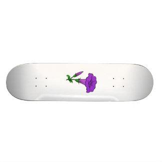 Purple Flower Skateboard Deck