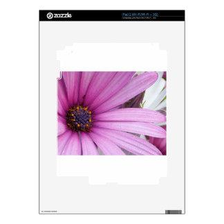 Purple Flower Decals For iPad 2