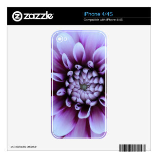 Purple Flower Skin Decals For iPhone 4S