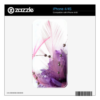 Purple flower skin for iPhone 4S