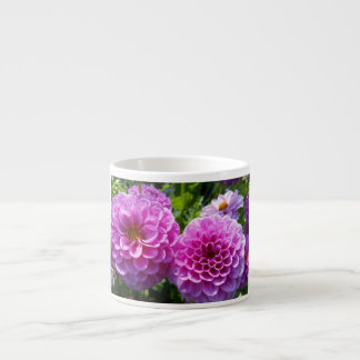 Purple Flower Espresso Mugs
