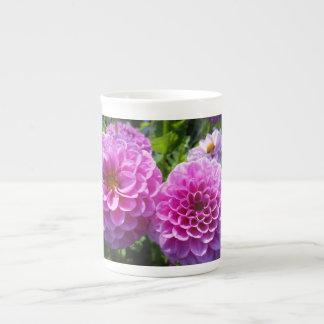 Purple Flower Porcelain Mugs
