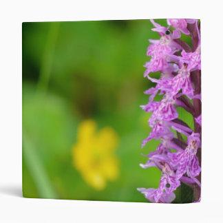 Purple flower spotted orchid protected species vinyl binders