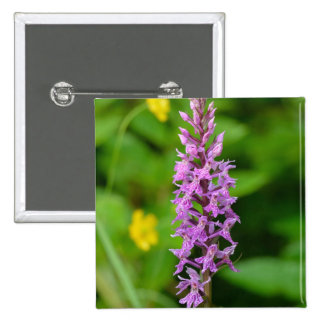 Purple flower spotted orchid protected species buttons