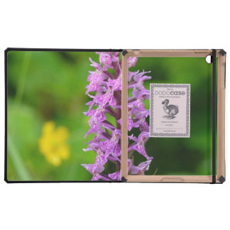 Purple flower spotted orchid protected species cases for iPad