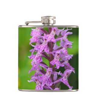 Purple flower spotted orchid protected species flask