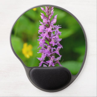 Purple flower spotted orchid protected species gel mouse pad