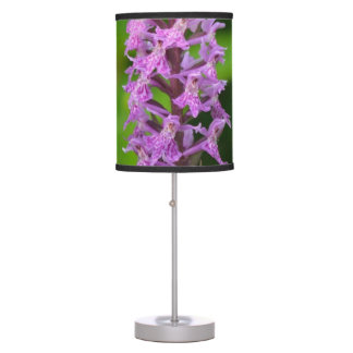 Purple flower spotted orchid protected species desk lamps