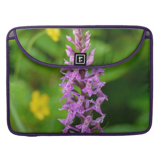 Purple flower spotted orchid protected species sleeves for MacBook pro