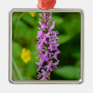 Purple flower spotted orchid protected species ornament