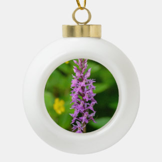 Purple flower spotted orchid protected species ornaments
