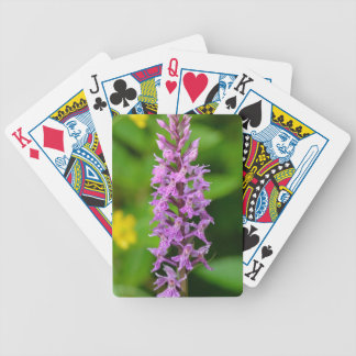 Purple flower spotted orchid protected species bicycle playing cards