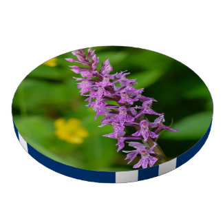 Purple flower spotted orchid protected species set of poker chips