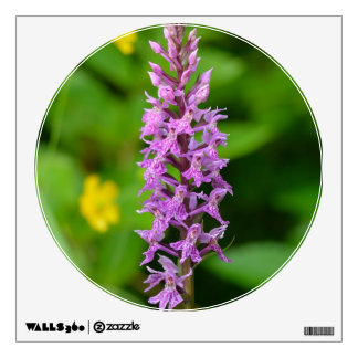 Purple flower spotted orchid protected species wall skins
