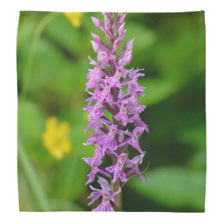 Purple flower spotted orchid protected species head kerchiefs