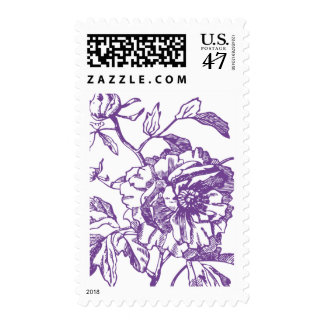 Purple Flower Stamp