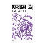 Purple Flower Stamp