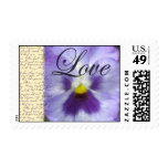 Purple flower stamps