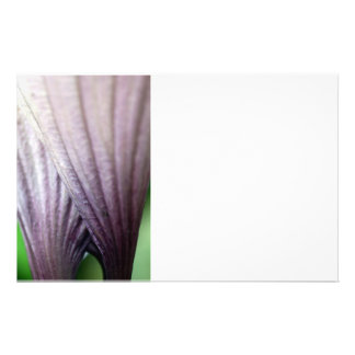 purple flower stationery
