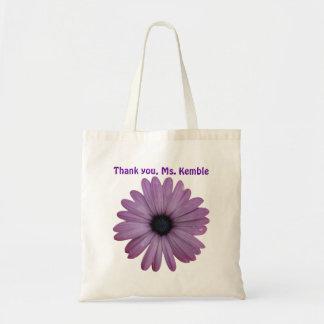 Purple Flower Teacher Appreciation Gift Custom Bag