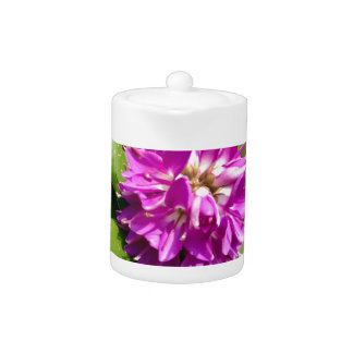 Purple flower teapot
