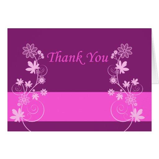 purple flower thank you card2 card zazzle