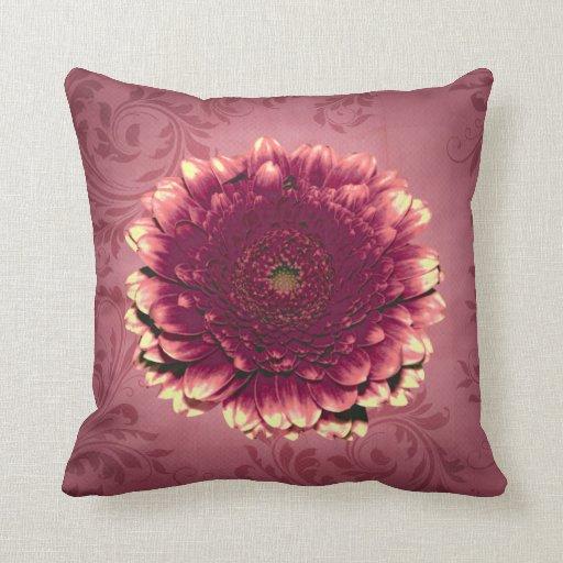 Lavender Flower Throw Pillow : Purple Flower Throw Pillow Zazzle