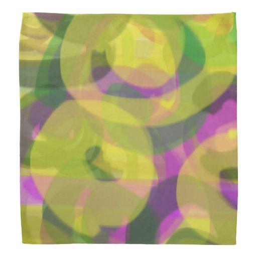quot purple flower tie dye quot bandana design zazzle