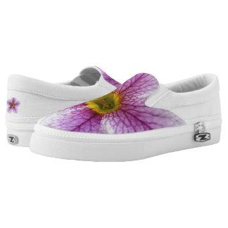 Purple Flower Toes Slip-On Sneakers
