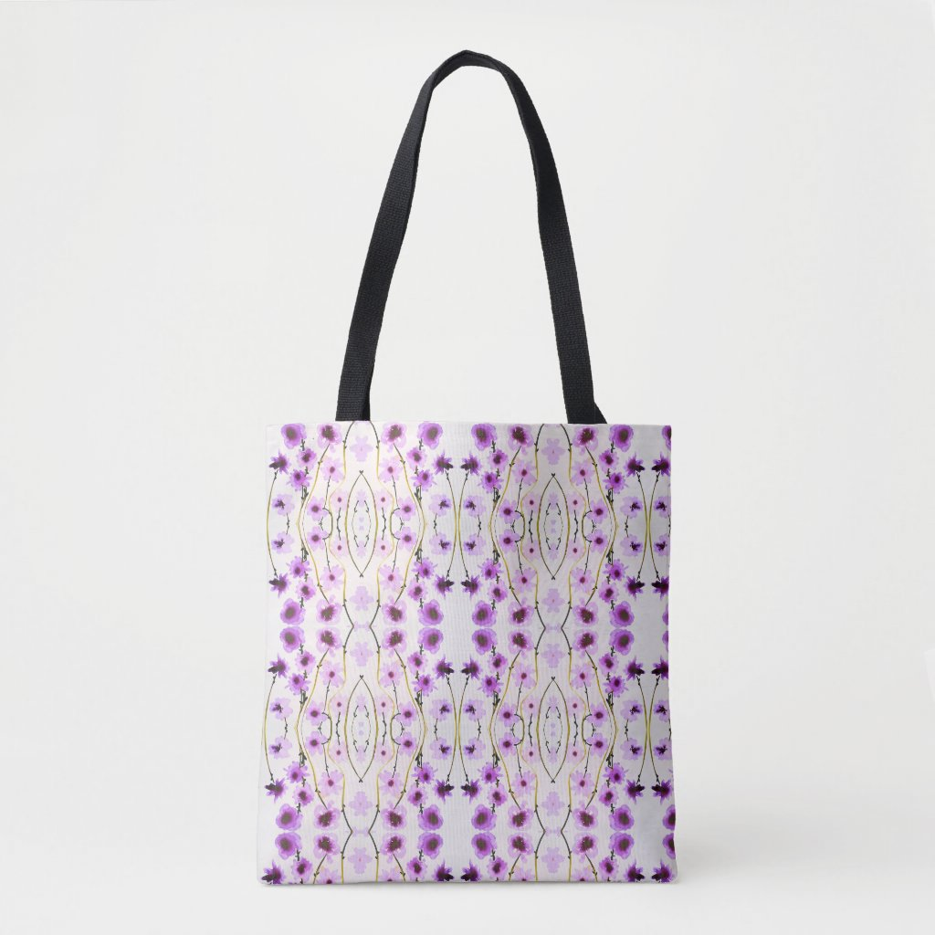 Purple flower tote