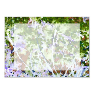 purple flower tree against sky  abstract invert 5x7 paper invitation card