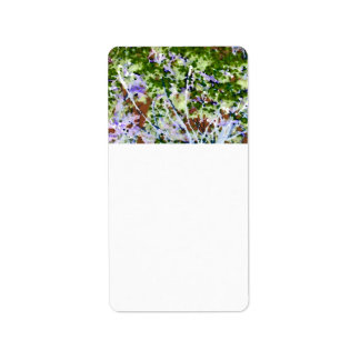 purple flower tree against sky  abstract invert address label