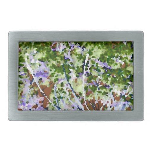 purple flower tree against sky  abstract invert belt buckles