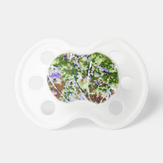 purple flower tree against sky  abstract invert BooginHead pacifier