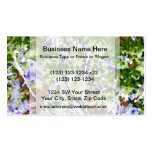 purple flower tree against sky  abstract invert business cards