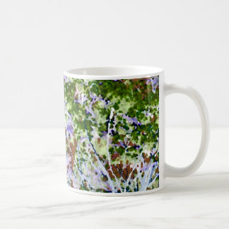 purple flower tree against sky  abstract invert classic white coffee mug