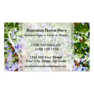 purple flower tree against sky  abstract invert Double-Sided standard business cards (Pack of 100)