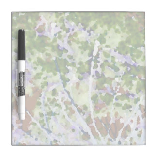 purple flower tree against sky  abstract invert dry erase whiteboard