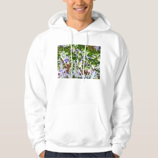 purple flower tree against sky  abstract invert hooded pullover