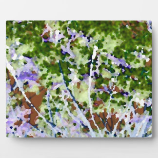 purple flower tree against sky  abstract invert photo plaque