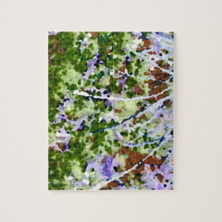 purple flower tree against sky  abstract invert puzzles