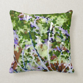 purple flower tree against sky  abstract invert throw pillow