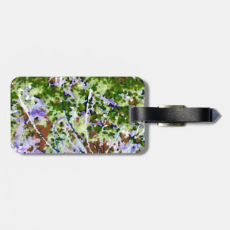 purple flower tree against sky  abstract invert travel bag tag