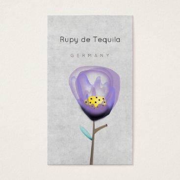 Professional Business Purple Flower Vertical Business Card
