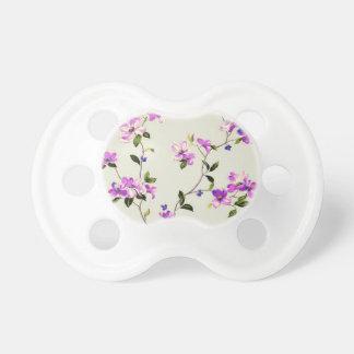 purple flower vine pacifier