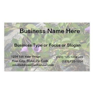 purple flower vines on rocks in florida business card