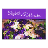 Purple Flower Wedding Invitations