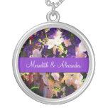 Purple Flower Wedding Necklace