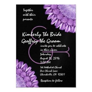 Purple Flower Wheels Modern Wedding Template Invitation