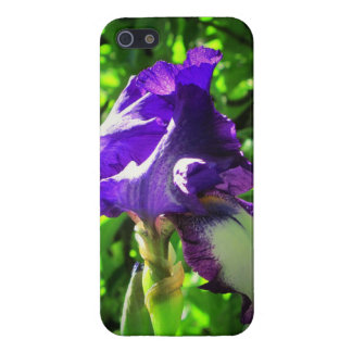 Purple flower with alien face! case for iPhone SE/5/5s